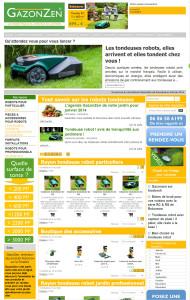 Un site e-commerce de robots tondeuses