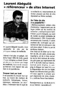 Edition locale du Télégramme de Morlaix du 31 mars 2004