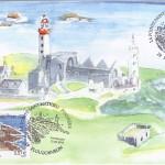 La carte premier jour du timbre Pointe Saint-Mathieu