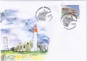 Enveloppe premier jour du timbre Pointe Saint-Mathieu